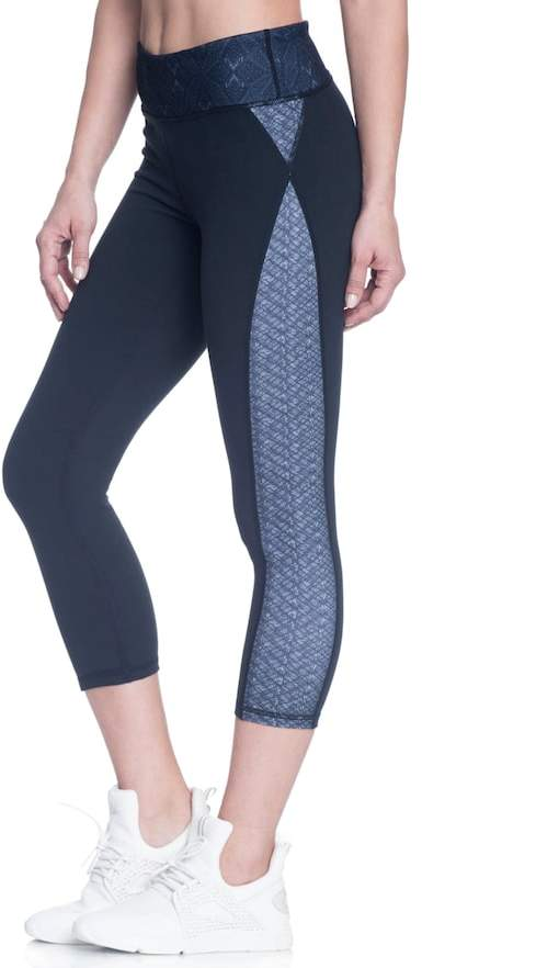 Gaiam Women's Gaiam Om Luxe Yoga Capri Leggings