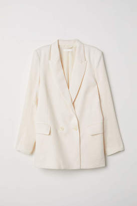 H&M Double-breasted Jacket - Cream - Women