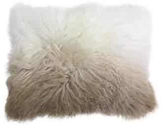 Callisto Home Two-Tone Mongolian Fur Pillow