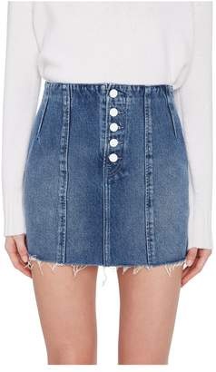 GRLFRND Denim Twiggy Hi-Rise Denim Mini Skirt