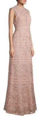 BCBGMAXAZRIA Lace Crochet Gown