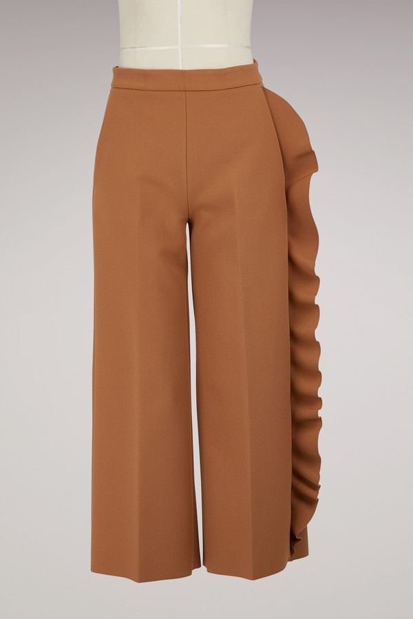 Msgm Trouser with ruffles