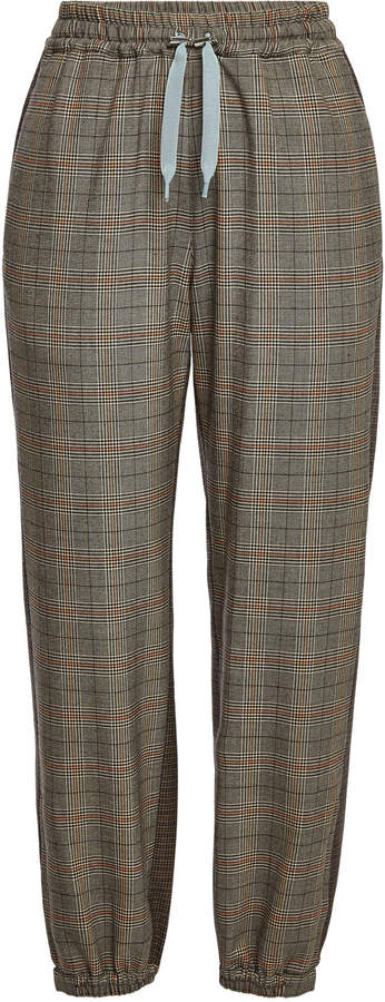 Parole Mix Printed Tapered Pants with Wool