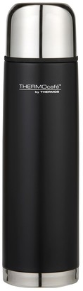 Thermos THERMOcafe Stainless Steel Slimline Flask Matte Black 1L