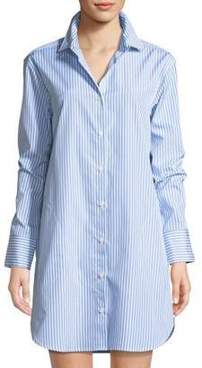 Kule Long-Sleeve Striped Button-Down Shirtdress