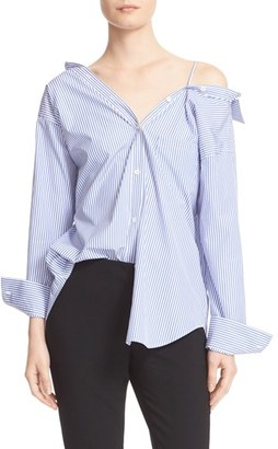 Women's Theory Tamalee Off The Shoulder Shirt $265 thestylecure.com