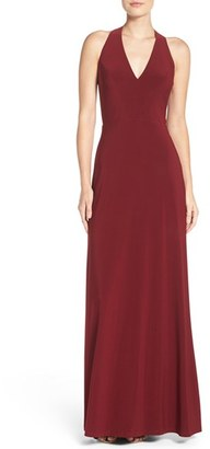 Women's Vera Wang Tie Back Gown $298 thestylecure.com