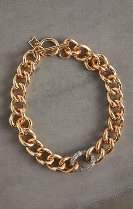 BCBGMAXAZRIA Pave Link Collar Necklace