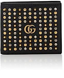 Gucci Men's Studded Leather Billfold - Black