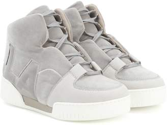 Stella McCartney Faux suede high-top sneakers