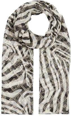 Marina Rinaldi Zebra Print Scarf