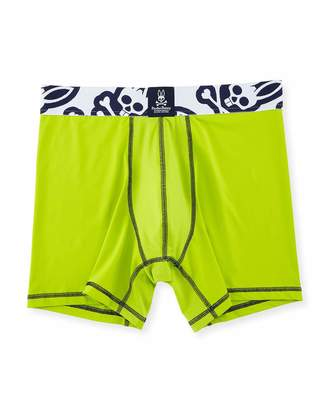Psycho Bunny Power Short Performance Boxer Briefs, Macaw Green $21 thestylecure.com