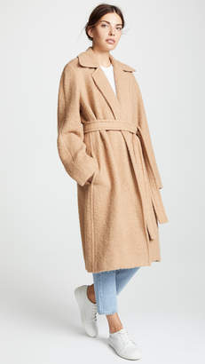 Helmut Lang Napped Wool Coat