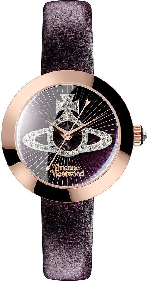 Vivienne WestwoodVivienne Westwood vv150rspp queensgate stainless steel and leather watch