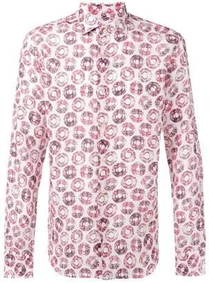 Xacus circles print shirt
