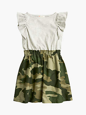 J.Crew crewcuts by Girls' Mixed Media Camouflage Dress, Heather Dusk