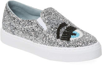 Chiara Ferragni Eye Detail Glitter Slip-On