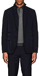 Fay Men's Tech-Twill Travel Jacket & Compact Knit Vest-Blue