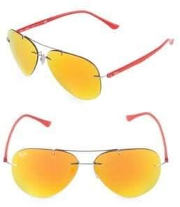 Ray-Ban 59MM Titanium Pilot Sunglasses