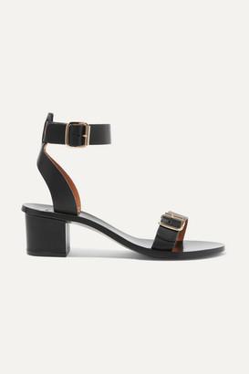 Atelier ATP Carmen Leather Sandals - Black