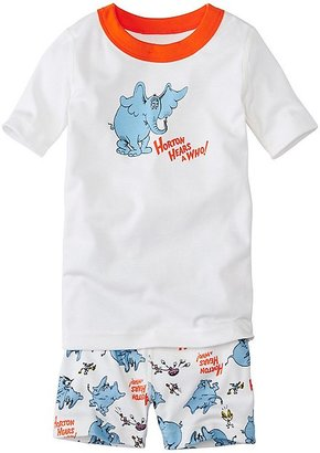Kids Dr. Seuss Short John Pajamas In Organic Cotton $42 thestylecure.com
