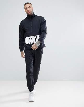 Nike Woven Hybrid Tracksuit Set In Black 886511-010