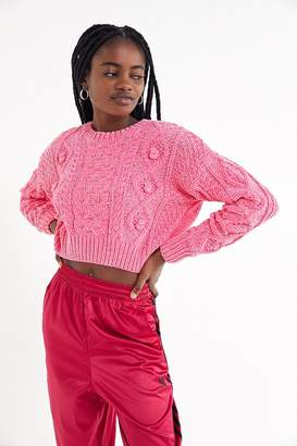 Urban Outfitters Bright Lights Cable Knit Cropped Sweater
