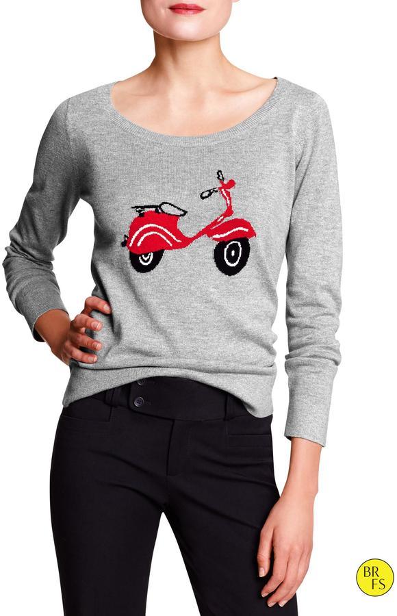 Banana Republic Factory Scoop-Neck Sweater