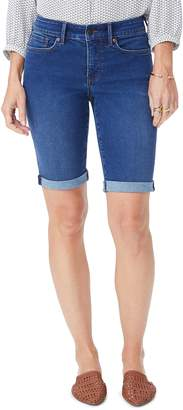 NYDJ Briella Rolled Denim Bermuda Shorts