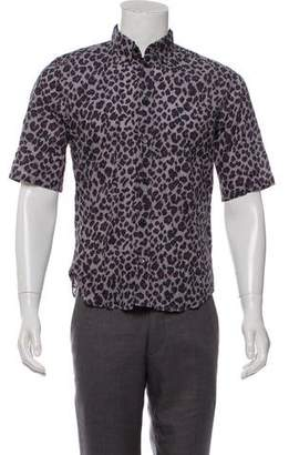 Marc Jacobs Animal Print Button-Up Shirt