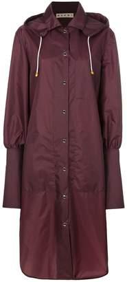 Marni long hooded raincoat