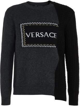 Versace Hybrid Knit Logo Sweater