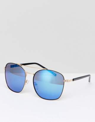 Jeepers Peepers Aviator Sunlgasses In Black/Gold
