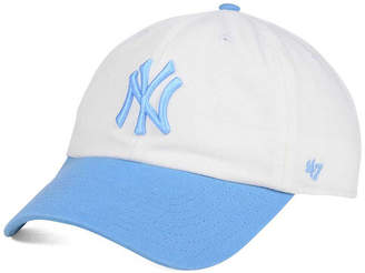'47 Brand Women's New York Yankees Powder Blue/White CLEAN UP Cap $27.99 thestylecure.com