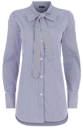 Theory Tie Neck Shirt
