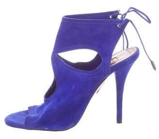 Altuzarra Suede Open-Toed Heel's