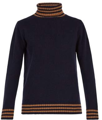 The Gigi - Chad Wool Roll Neck Sweater - Mens - Navy
