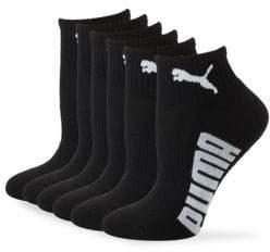 Puma Six-Pack Wordmark Ankle Socks