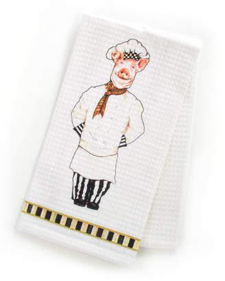 Mackenzie Childs Monsieur Jambon Dish Towel