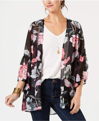 Style&Co. Style & Co Petite Printed Kimono
