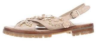 AGL Embellished Leather Sandals