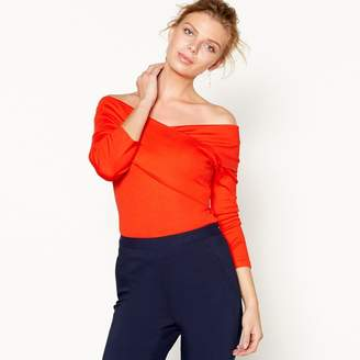 J by Jasper Conran Red Wrap Over Bardot Top