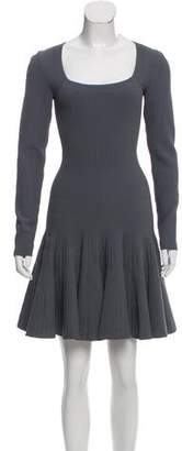 Alaia Long Sleeve Mini Dress