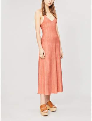 c311a394eb5 Sandro Metallic stretch-knit maxi dress