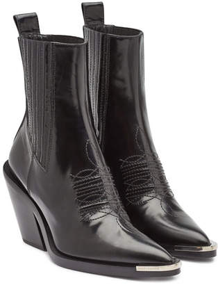 Paco Rabanne Leather Ankle Boots