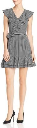 J.o.a. Ruffled Striped Dress