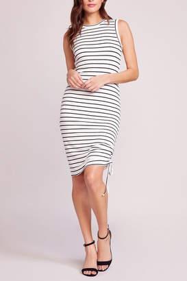 BB Dakota What's-The-Ruche Stripe Dress