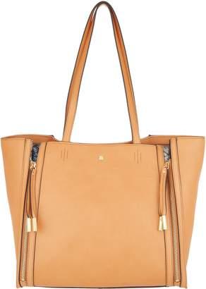 G.I.L.I. Got It Love It G.I.L.I. Leather Zipped-Up Tote Handbag