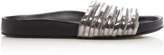 Isabel Marant Hellea Metallic Quilted Leather Slides
