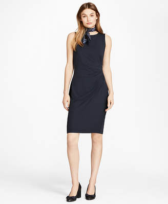 Brooks Brothers Ruched Ponte Sheath Dress